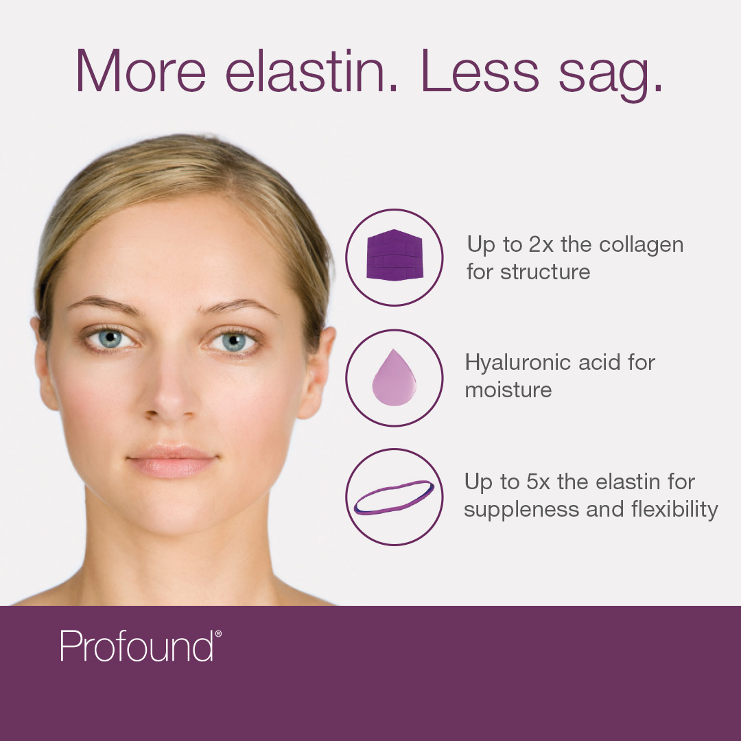 More elastin & less sag