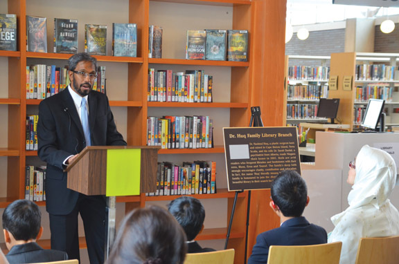 City Recognizes Library Gift Huq Family Donates $200,000 to Grantham Branch